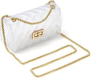MOETYANG Semi Clear Purse for women,Jelly Purse, Clutch Crossbody Shoulder Bag Fashion Design
