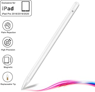 """Palm Rejection Active Stylus Pen for iPad, Ecomono Magnetic Digital Drawing Pencil for iPad Pro, High Precision&Sensitivity Fine Tip (2pcs), Compatible with iPad(7th Gen)/Pro 11""""/12.9""""/Air 3/Mini 5th"""