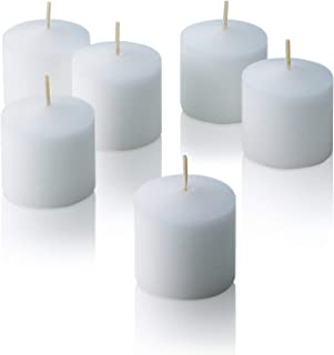 YUCH White Votive Candles - Box of 72 Unscented Candles - 6 Hour Burn Time - Bulk Candles for Weddings, Parties, Spas and Decorations