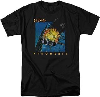 Def Leppard Pyromania 80s Rock Album T Shirt & Stickers