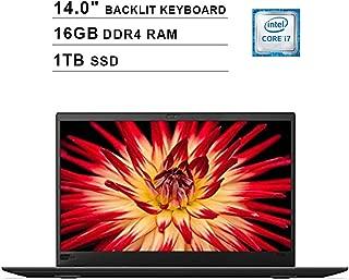 2019 Lenovo Thinkpad X1 Carbon 14 Inch Touchscreen WQHD Laptop (Inter 4-Core i7-8650U up to 4.2GHz, 16GB DDR4 RAM, 1TB SSD, Intel UHD Graphics 620, Backlit Keyboard, FP Reader, Windows 10) (Renewed)