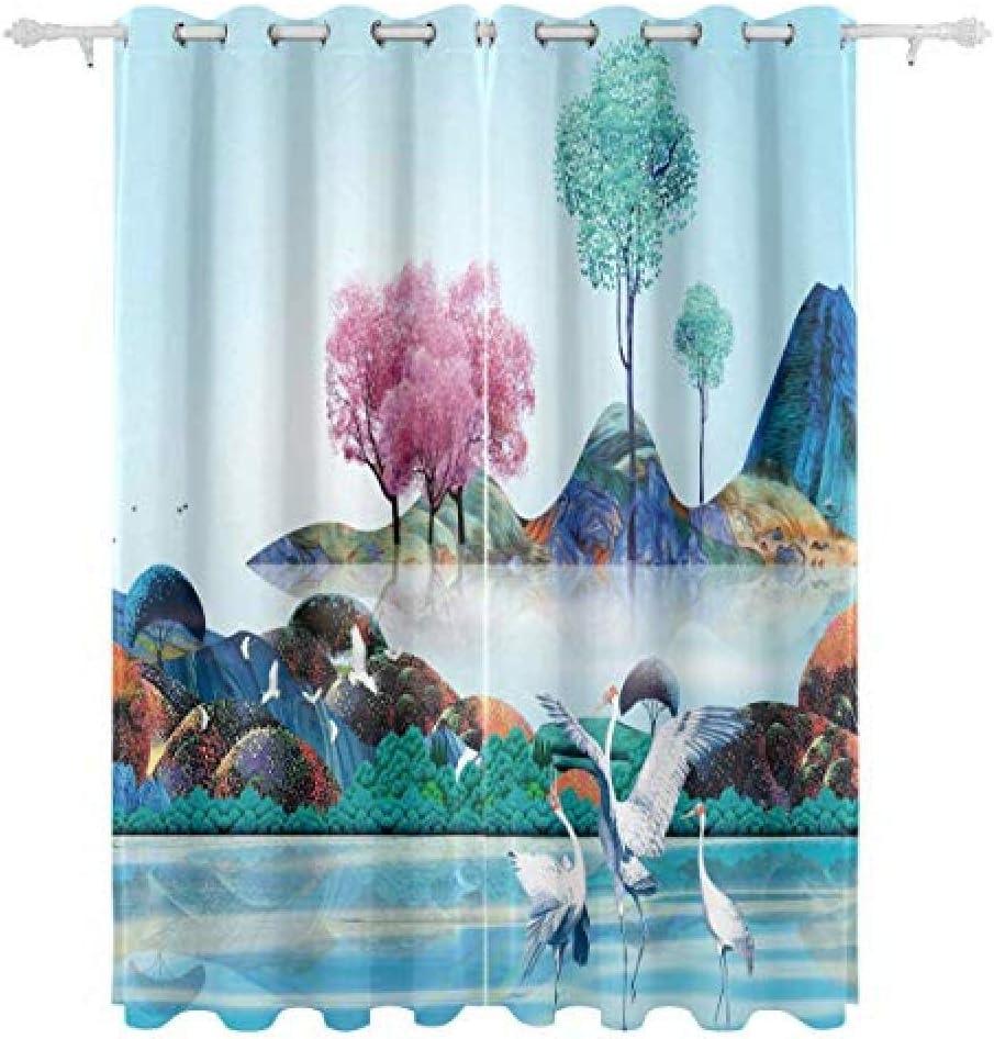 FFFSSS Topics on TV 3D Eyelet Curtain Animal K Blackout Polyester Curtains favorite