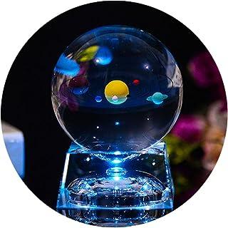 Bola de Cristal 3D con modelo de Sistema Solar y Base de Lá