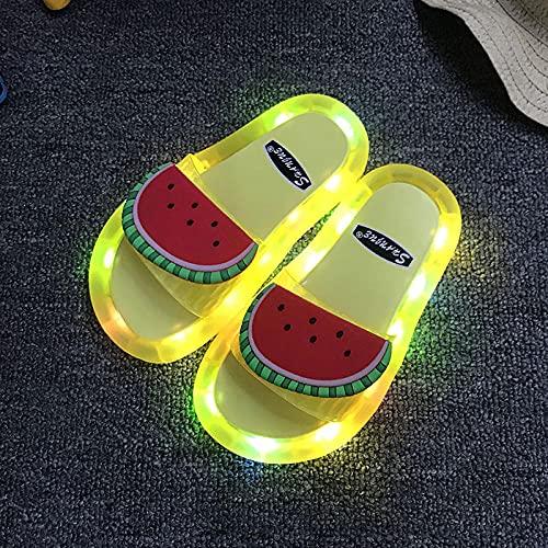 20er Jahre Schuhe Damen,Elternkind Led Blinkend Licht Emittierende Hausschuhe, Wassermelonenfrucht Jungkinder Baby Hausschuhe, Ummer Freizeit Home Badezimmer Schwimmen Strand Flip Flop-Eu 40/41 (24,5