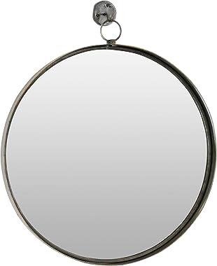 Aspire Bescott Suspended Round Wall Mirror, Brown