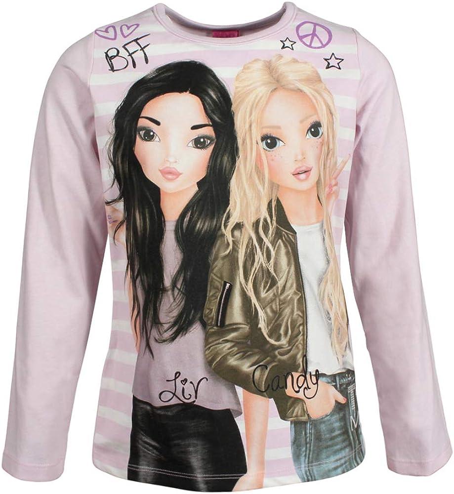 rosa Top Model M/ädchen T-Shirt Langarmshirt
