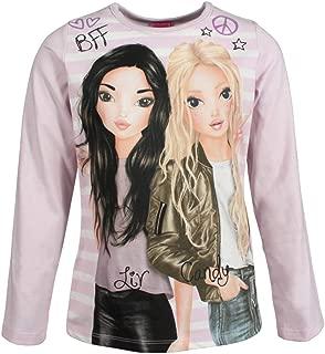 176 Garcia Shirt T-Shirt langarm Langarmshirt pink Pailletten Uni Mädchen Gr