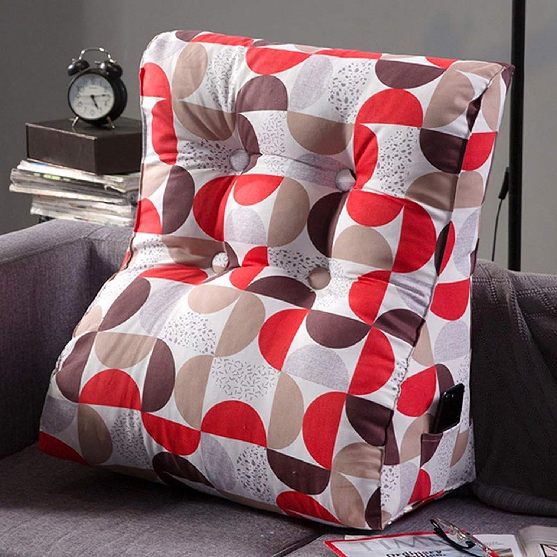 YHEGV Coussin d'angle de Dossier - Coussin de Triangle de lit Grand canapé d'oreiller de Bureau Coussin de Bureau Coussin d'oreiller Lombaire Amovible et Lavable (Couleur  H, Taille  45  55cm)