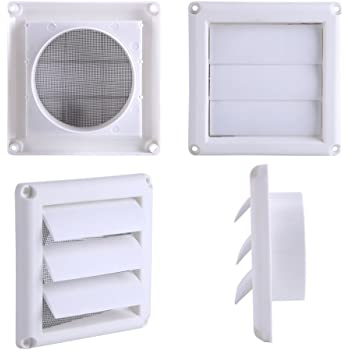 1PC Plastic Air Vent Grille Cover 3 Flaps Wall Duct Ventilaci/ón Grill con Red Nuevo 20 * 20 cm Oumij Pastic Air Vent