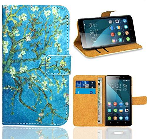 Preisvergleich Produktbild Huawei Honor 4X Handy Tasche,  FoneExpert Wallet Case Flip Cover Hüllen Etui Ledertasche Lederhülle Premium Schutzhülle für Huawei Honor 4X