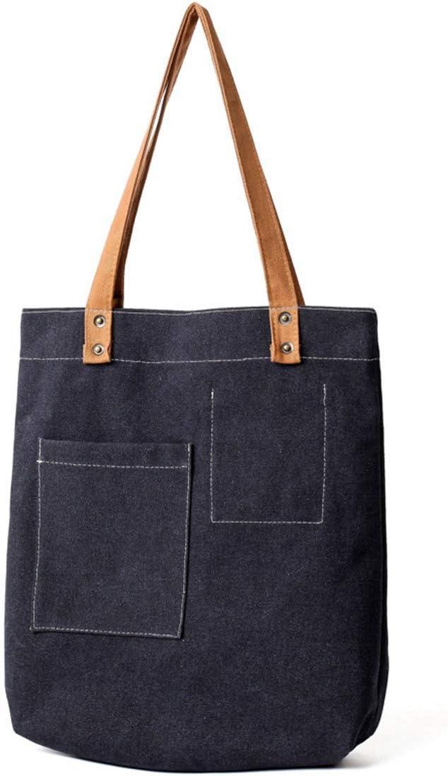 JNKET Canvas Women/'s Handbag Simple Pure Colour Shoulder Bag Fashion Casual Tote Bag Satchel Bag Messenger Bags Green