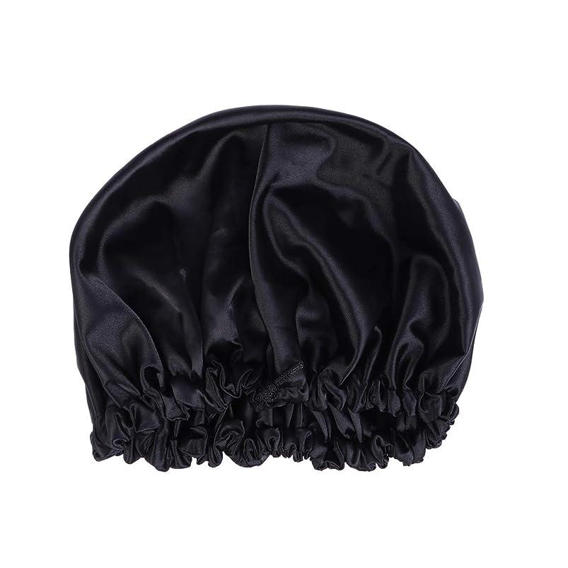病的逃すデータベースHealifty ダクロンナイトスリーピングキャップボンネット帽子(黒)