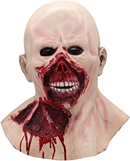 Amosfun Halloween Scary Mask Bloody Mouth and Eyes Mask Horror Full Face Mask for Party Bar Halloween