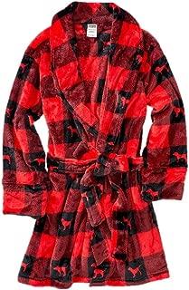 Pink Robe Plaid Red & Black Dog Logo