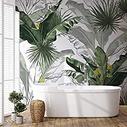 Murwall Banana Leaf Wallpaper Removable