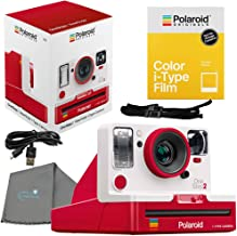 Polaroid OneStep 2 Viewfinder i-Type Camera, Red Bundle with a Color i-Type Film Pack (8..