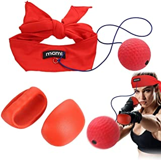 AHCSMRE Boxing Reflex Ball Headband with Punch Gloves Great for Boxing Eye Training Reactions Speed Faster Reflexes