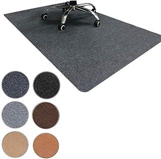 チェアマット フロアマット 140*90cm ずれない 厚さ4mm フローリング 椅子 床 デスク 保護マット 傷防止 滑り止め 丸洗い可能 カット可能 静音吸音 足元マット 全8色(ダークグレー)
