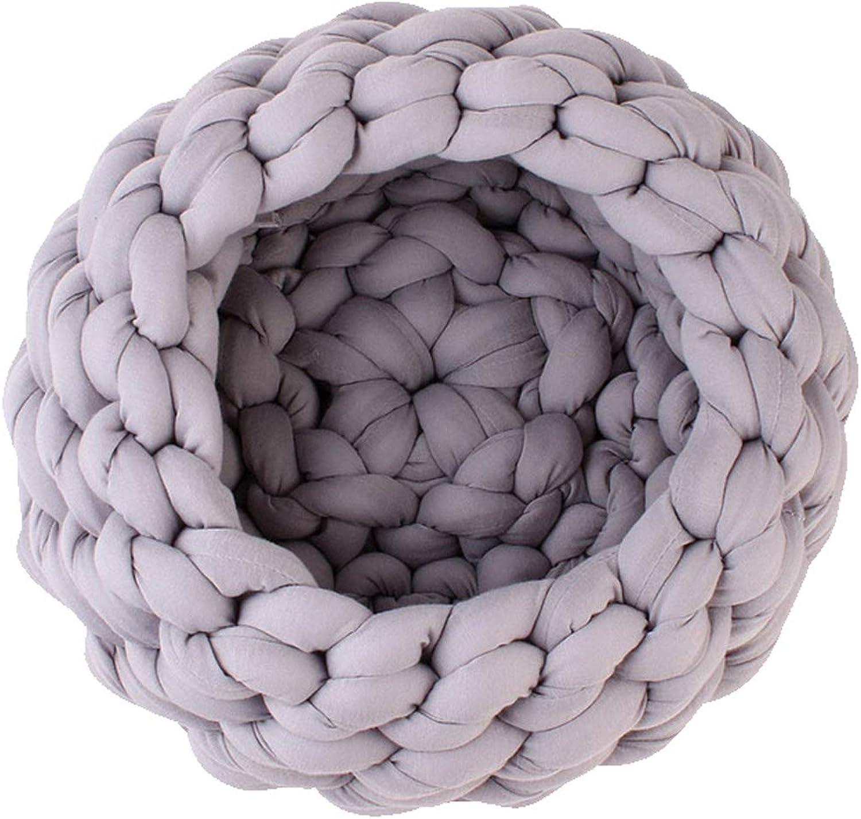 HandWoven Pet Nest Coarse Wool Core Yarn Cushion Cosy