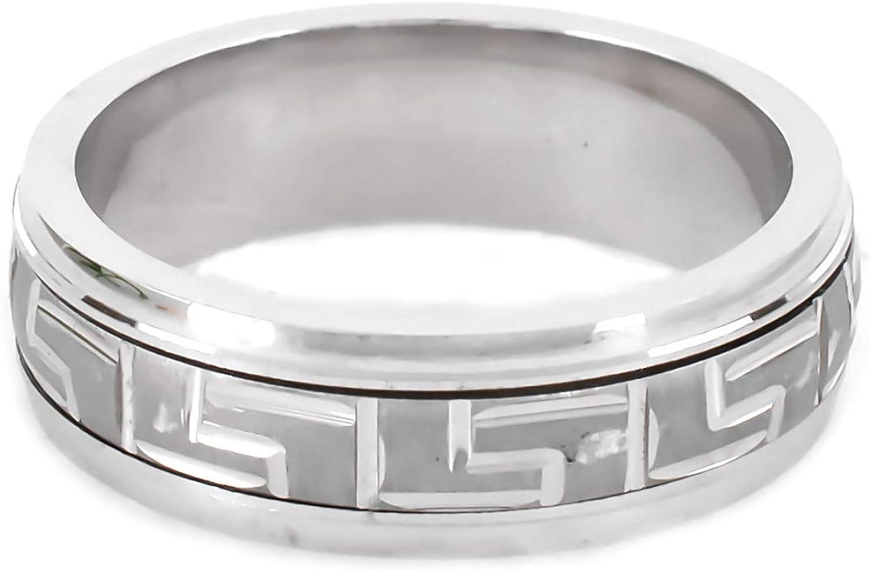 925 Max 66% OFF Sterling Silver Gold Plated Greek Etern Washington Mall Ornament Key Figured