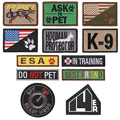 """14er Tactical K9 Dog Patches (12-Pack) 