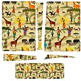 Ethnic African Women and Animal Compatible with PS5 CD-ROM Console Skin and PS5 Controller Skins Set for Playstation 5 Full Body Personalise Stickers