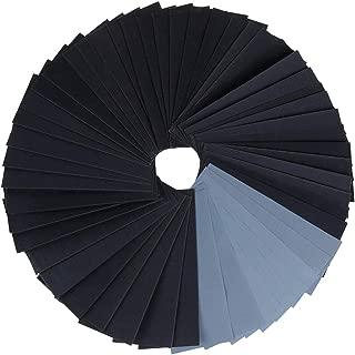 Vastar 51Pcs Sand Paper - Sandpaper, 120/150/180/220/320/400/600/800/1000/1200/1500/2000/2500/3000, 9 x 3.6 Inch Wet Dry Sandpaper for Wood/Metals/Wall/Car Paint etc.