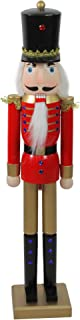 """Northlight 36.25"""" Red and Gold Soldier Christmas Nutcracker Tabletop Figurine"""