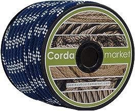 Cordamarket cord. skota nylon 10 mm  platinium line azul/blanco 25 mts