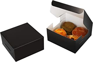 Take a Bake 20 Pack Cookie Boxes - 5 x 5 x 2.5 Inch - Bakery Treat Box for Cupcake, Donut, Bundt Cake, Chocolate, Strawber...