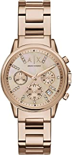 Armani Exchange Womens Quartz Watch, Analog Display and Stainless Steel Strap AX4326