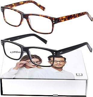 Sponsored Ad - Henotin 2-Pack Reading Glasses Blue Light Blocking,Computer Readers for Women Men Anti UV Glare Eyestrain G...