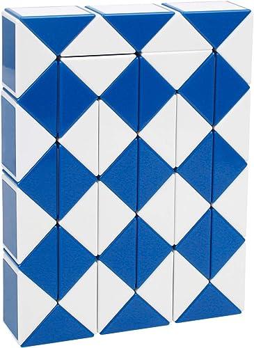 48 Parts Magic Cube Snake Twist Ruler MC-01 (Blue and White)