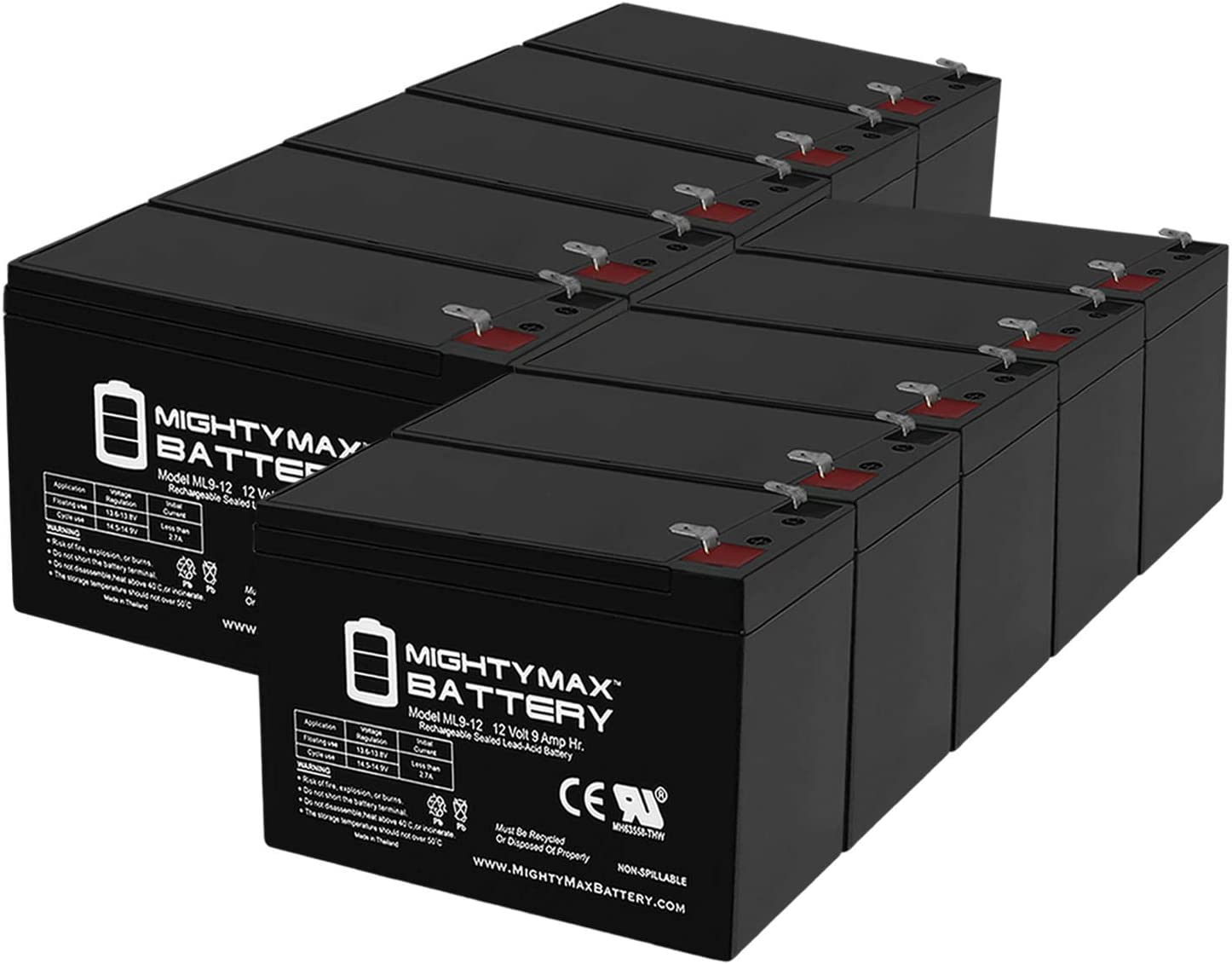 Mighty Max Battery Mesa Mall 12V Easy-to-use 9Ah H Compatible Replacement with