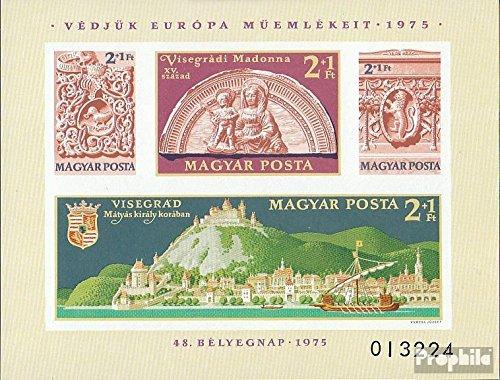 Prophila Collection Ungarn Block115B (kompl.Ausg.) ungezähnt 1975 Denkmalschutzjahr 1975 (Briefmarken für Sammler) Seefahrt