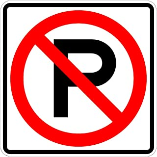 Municipal Supply and Sign Co. No Parking Sign - 24 x 24 Parking Lot Sign - 3M