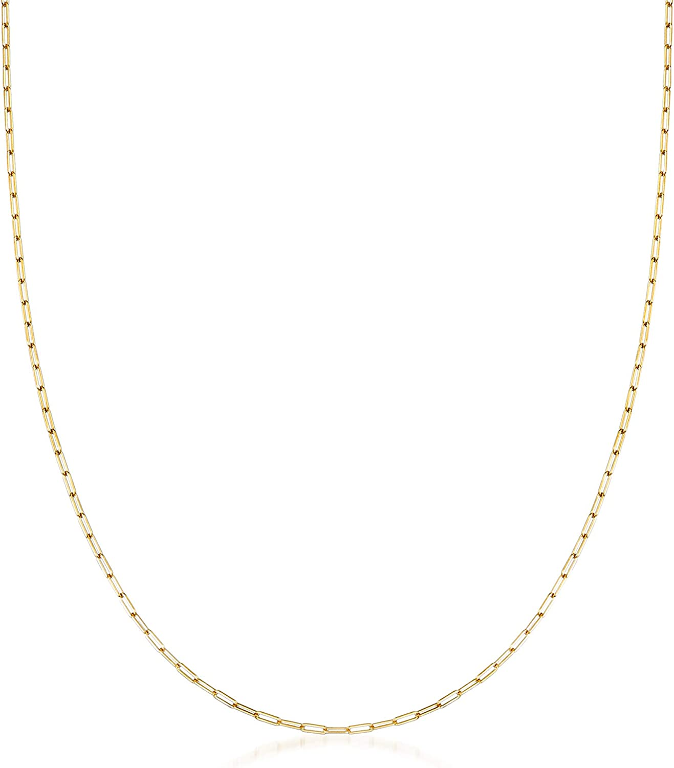 Ross-Simons 14kt Yellow Gold Paper Clip Link Necklace