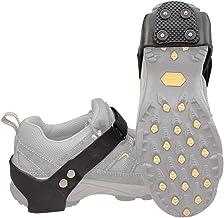 BelleLibre Walk Traction Cleats, Safe Outdoor Walking Hiking Grips Crampons Shoe Boots Ice Cleats,4 Studs Heel Cleats