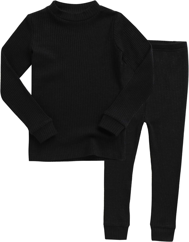 VAENAIT BABY 12M-12Years Girls Boys Soft Modal Ribbing Tencel Fabric Halloween Clothes Sleepwear Pajamas 2pcs Set