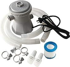 Fovor Bomba de Filtro eléctrico Bombas de Piscina, Bomba de Piscina y Filtro por Encima del Suelo, Agua Conjunto de Bomba de Filtro para Herramienta de Limpieza de estanques/Piscinas/jacuzzis