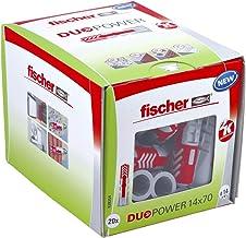 Fischer Duo Power universele pluggen, maat 14 x 70 mm, verpakking van 20 stuks,