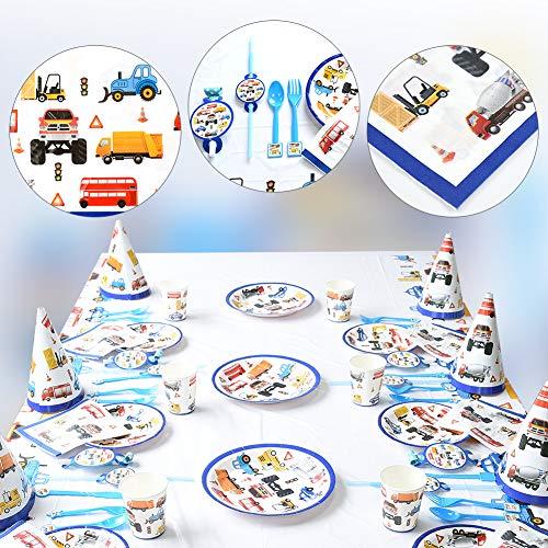 Demine - Vajilla infantil (66 unidades, incluye platos de cartón para cartas,...