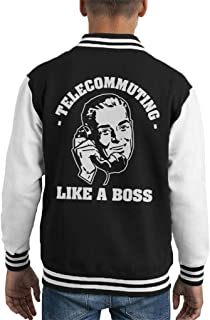 Cloud City 7 Telecommuting Like A Boss Kid's Varsity Jacket