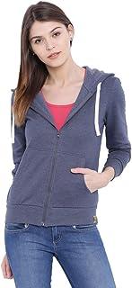 Campus Sutra Women Denim Zipper Hoodie