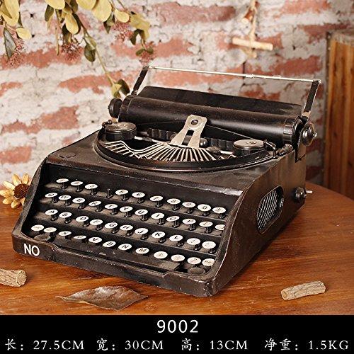 AIURLIFE Máquina de escribir Vintage, retro, artes del hierro Decoración , black 1