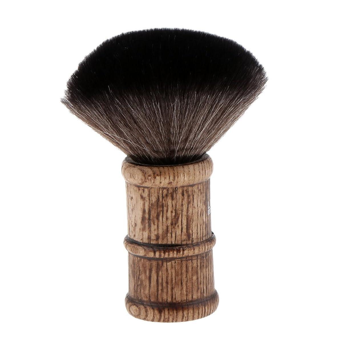 代わりのヘクタールそばにヘアカット ブラシ ネックダスターブラシ 散髪ブラシ 柔らかい フェイスブラシ 2色選べる - ブラック