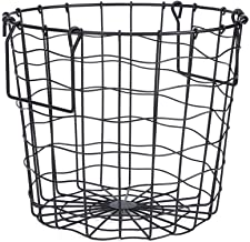 Clothes Basket, Hollow Design Household Bathroom Breathable Iron Dirty Clothes Laundry Basket Storage Holder Bedroom Organ...