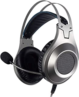 Ps4 headphones Wired Headset Stereo Gaming Microphone Headset For Xbox One PS4 Playstation 4 xbox headsets (Color : Silver)