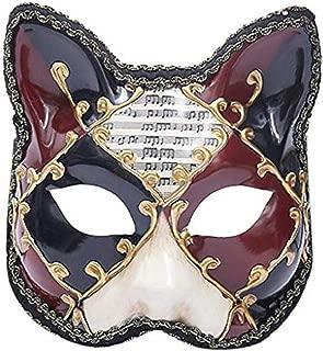 Masquerade Mask Valentine Women Mask Half Face Mask Venetian Checkered Musical Party Animal Cat Mask