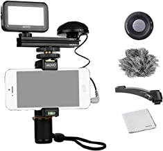 Movo Smartphone Video Kit V3 with Grip Rig, Omnidirectional Movo Microphone, LED Light and Wireless Remote - YouTube Equipment Compatible with iPhone 5, 5C, 5S, 6, 6S, 7, 8, X, XS, XS Max, 11, 11 Pro